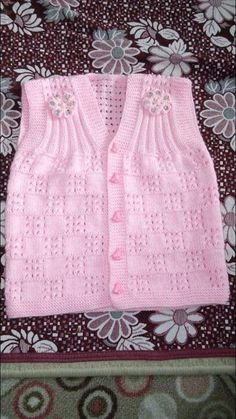 Baby Cardigan Knitting Pattern Free, Crochet Baby Jacket, Knit Vest, Crochet Blanket Patterns, Baby Blanket Crochet, Baby Knitting Patterns, Knitting Designs, Baby Car Seat Blanket, Knit Baby Sweaters