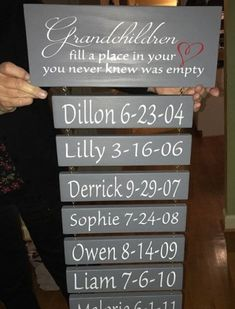 Personalized Grandchildren fill a place in your heart sign, Gift for Grandma, Grandmothers Birthday Grandkids sign Grandparent Gift Grandchildren sign Grandma Grandkids Sign, Grandmother Birthday, Grandmother Gifts, Grandmother Quotes, Dad Birthday, Awesome Birthday Gifts, Birthday Quotes, Birthday Images, Happy Birthday