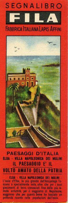 Segnalibri Fila Giotto  Anni '40/'50 Serie Paesaggi d'Italia di Mario Algozzino
