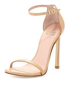 63c2f7cf5bb X2K37 Stuart Weitzman Nudist Leather Ankle-Strap Sandal