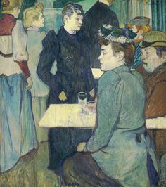 Henri de Toulouse-Lautrec - Corner of the Moulin de la Galette [1892]