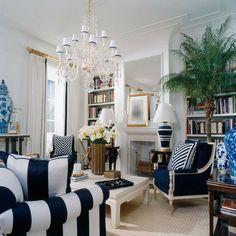 Drop Dead Fabulous Navy And White Room By Ralph Lauren Home Gorgeous Filled With Every Imaginable Decor Goo You Could