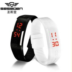 Cheap watch for, Buy Quality watches for men directly from China watch women Suppliers: Led watch women sport men's watches relogio feminino erkek kol saati simple watches for men kids running Bracelet clock Simple Watches, Cheap Watches, Unusual Watches, Bracelet Silicone, Fossil Watches For Men, Men's Watches, Kids Bracelets, Led Watch, Sport Watches