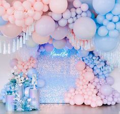 Balloon Wall, Balloon Garland, Balloon Decorations, Birthday Party Decorations, Party Themes, Party Ideas, Shower Party, Baby Shower Parties, Sequin Wall