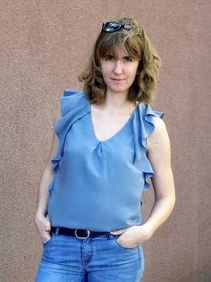 Bluzka z wolantami, Burda 2/2017 106 A; blouse