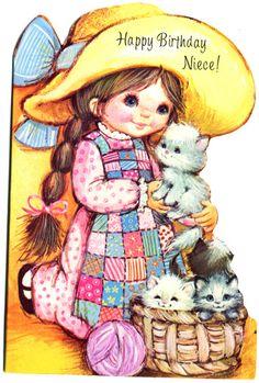 Vintage greetings card - Happy Birthday Niece | by Dilys Treacle Treasures