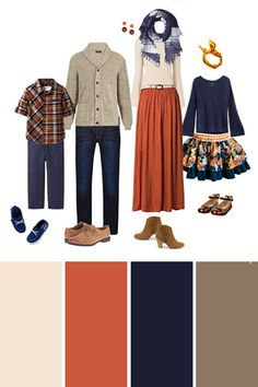 Oct 2019 - Look though outfit examples in the best colors for outdoor family pictures and dive into tips to make it perfect for YOUR family session! Fall Family Picture Outfits, Family Picture Colors, Family Photos What To Wear, Fall Family Photos, Family Pics, Family Posing, Family Photography Outfits, Family Portrait Outfits, Fall Family Portraits