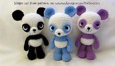 2000 Free Amigurumi Patterns: Panda Amigurumi Free Pattern