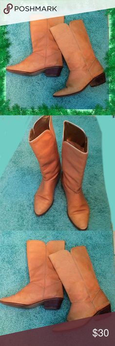 Tanya / Leather Western Boots / Beige Gold /  Sz 8 Tanya / Size 8 / Leather Western Boots / Beige & Gold / Preloved with lots of life left! GOOD LOOKING!  Please feel free to make an offer - Enjoy BIG discounts on bundles & save $$$ on shipping! I package safely & ship fast.  TY & Happy Poshing! 💜💜💜 Shoes Heeled Boots