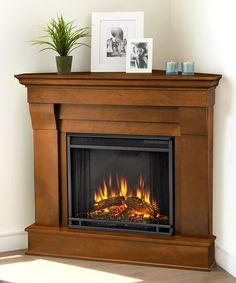 Look at this #zulilyfind! Espresso Chateau Electric Corner Fireplace by Real Flame #zulilyfinds
