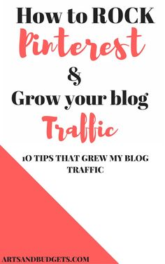 Over the recent months, my main source of traffic to my blog comes from Pinterest! In this post, I share tips that have helped me generate more traffic to my blog from this outlet.