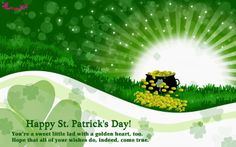 Happy St Patricks Day Greetings Image Irish Picture Card with Message