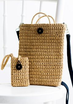Virkattu tabletti- ja kännykäkotelo SK 3/14. Crochet Bags, Crochet Ideas, Knit Crochet, Korit, Diy Bags Purses, New Age, Handmade Bags, Fashion Bags, Straw Bag
