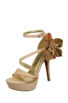 Corsage Open Toe Strappy Platform Sandal (Love this!)