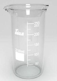 Becker de Vidro Graduado Berzelius (Forma Alta) - Uniglas BioClassi