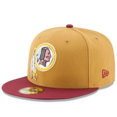 New Era Washington Redskins Gold Collection Gold 59FIFTY Fitted Hat 589d69e80f28