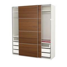 Ikea pax armoire penderie taille 200 x 66 x 236 cm - Porte coulissante silencieuse ...