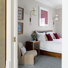 See Steffanie Brown's home in west London, which incorporates bedroom furniture with modern touches, plus hundreds more oh-so stylish bedroom ideas Bedroom Wall Colors, Bedroom Color Schemes, Small Room Bedroom, Master Bedroom Design, Bedroom Decor, Bedroom Ideas, Colourful Bedroom, Bed Rooms, Vintage Bedroom Furniture