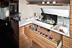 Wohnwagen Adria Astella 2016 Motorhome Interior, Gmc Motorhome, Camper Caravan, Camper Trailers, Camping Con Glamour, Van Conversion Build, Camper Van Kitchen, Stealth Camping, Cool Vans