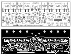 Click he image to open in full size. Hifi Amplifier, Class D Amplifier, Hobby Electronics, Electronics Projects, Electronic Circuit Design, Circuit Board Design, Electrical Circuit Diagram, Dc Circuit, Electronic Schematics