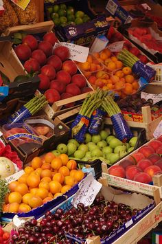 Fresh produce in Trieste, Italy