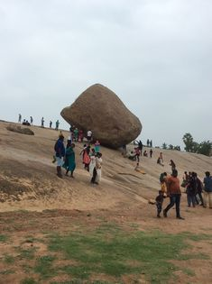 Krishna's butter ball Mahabalipuram huge hilltop rock perched on small platform River Rock Landscaping, Landscaping Images, Wonderful Places, Beautiful Places, Monument Rocks, Tourist Spots, East Africa, Incredible India, Amazing