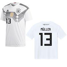 adidas DFB DEUTSCHLAND Trikot Home Kinder WM 2018 - MÜLLER 13 Fantrikots - Fanshop Spieler DFB - Deutschland