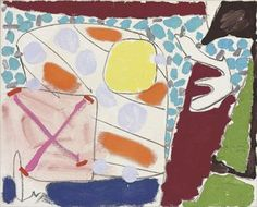 Patrick Heron 'June 17th: 84' Kids Art Class, Art For Kids, Peter Wood, Patrick Heron, Great Paintings, Art Education, Abstract Expressionism, Screen Printing, Illustration Art
