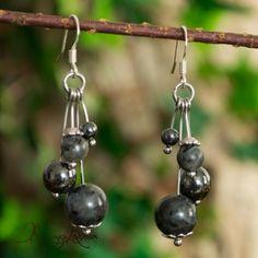 BELLE 10 mm lots de 4 paires multicolore jade perles rondes Boucles d/'oreilles Clou