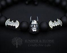 Batman-Armband, Herren Armband, Batman Rüstung Schmuck, Superheld, 925 Silber Batman, Batman Vs Superman, Dark Knight, Geschenk für Batman-Fans,
