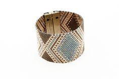 Manchette SIXTINE Bleu et Kaki http://artistic-bracelet.com/produit/sixtine-bracelet-manchette-ethnique-bleu/
