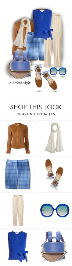 """""""Travel in style"""" by interesting-times ❤ liked on Polyvore featuring DESA 1972, Calypso St. Barth, Lands' End, Tory Burch, The Row, Alice + Olivia, Diane Von Furstenberg and Anya Hindmarch"""