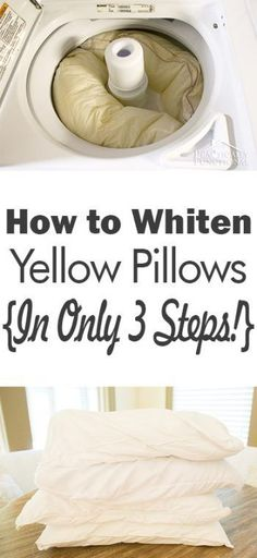 File this under: life hacks. Spring is here, or at least for some of us, and that means lots of cleaning. We've rounded up ten more easy life hacks that aim … House Cleaning Tips, Diy Cleaning Products, Cleaning Solutions, Deep Cleaning, Spring Cleaning, Cleaning Hacks, Whiten Pillows, Wash Pillows, Throw Pillows