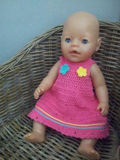 Baby Born jurkje gehaakt / Baby doll dress