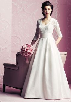 Fantastic long sleeve wedding dress