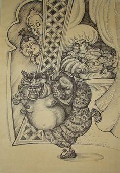 Mozart Entfuhrung aus dem Serail by balgeza on DeviantArt My Drawings, Vintage World Maps, Organic, Colours, Ink, Deviantart, Paper, Illustration, India Ink