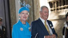 Queen Margrethe & Prince Henrik attending Swedish royal jubilee. September 2013.