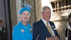 Queen Margrethe & Prince Henrik attending Swedish royal jubilee. September 2013.