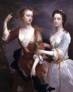 1716 Martha and Theresa Blount by Charles Jervas (private collection) | Grand Ladies | gogm