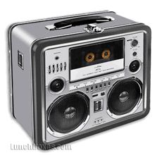 Boombox Metal Lunch Box