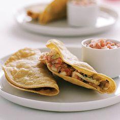 Crisp Chicken Tacos (Tacos de Pollo) | MyRecipes.com