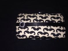 Mustache diaper wipe case
