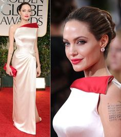 Beautiful Versace dress on Angelina Jolie! Her fashion choices never disappoint!