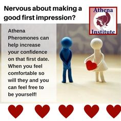 Nervous about a first date? Athena Pheromones will not only give you the confidence boost you need, they're also scientifically proven to increase your attractiveness and the attention you receive from the opposite sex! https://athenainstitute.com/1013.html #pheromones #dating