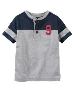 Kid Boy Varsity Raglan Henley from OshKosh B'gosh. Shop clothing & accessories from a trusted name in kids, toddlers, and baby clothes.