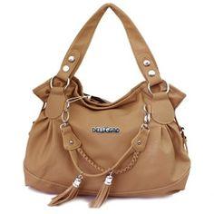 $30.82 Casual Tassels and Solid Color Design Women's Shoulder Bag