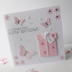 Gorgeous Hand Made Personalised Birthday Card.