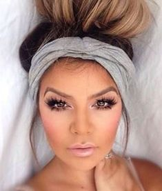 Gray Scrunch Headband Extra Wide Headband Turban Headband | Etsy