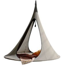 A great hammock will provide you with relief no matter where you choose to hang it up. The Songo Hanging Hammock from Cacoon takes relaxation to a whole new level. Hammock Swing Chair, Hammock Stand, Swinging Chair, Swing Chairs, Outdoor Hammock, High Chairs, Indoor Outdoor, Cabana, Architecture