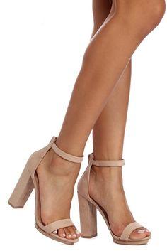 3d2ffcc292 Basic Block Heels Tan Heels, Ankle Strap Heels, Ankle Straps, Shoes Heels,